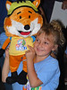 Rachel with Sparks the fox puppet